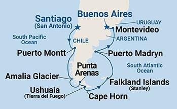 Cruise Itinerary Map